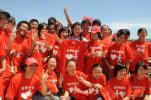 图文-北京奥运圣火在三亚传递 杨扬牵手为圣火