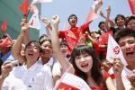 图文-北京奥运圣火深圳站传递 我们同为奥运喝彩