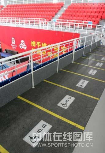 图文-北京科技大学体育馆巡礼 无障碍设施周全