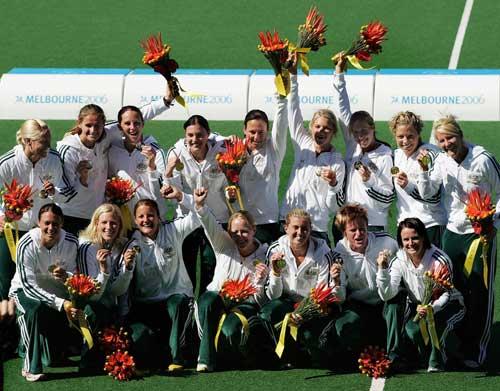 图文-奥运女子曲棍球参赛队伍 世界第4澳大利亚队