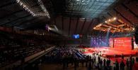 图文-奥运会圣火在扬州传递 结束仪式现场
