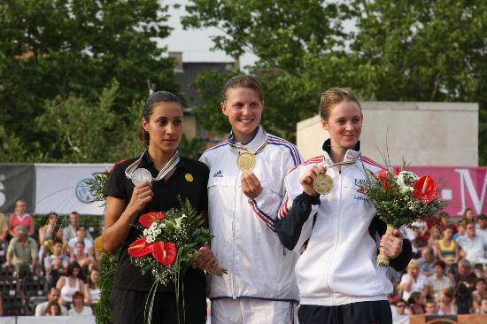 图文-法国选手卡泽夺得现代五项世锦赛女子个人冠军