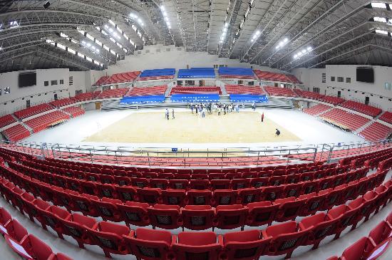 图文-奥运场馆巡礼之农大体育馆 体育馆内景