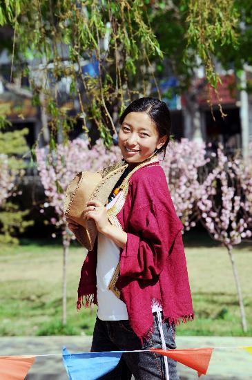 图文-民族体育之花次珍 美丽的藏族姑娘次珍