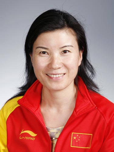 图文-北京奥运会中国代表团成立 射击队队员刘英姿