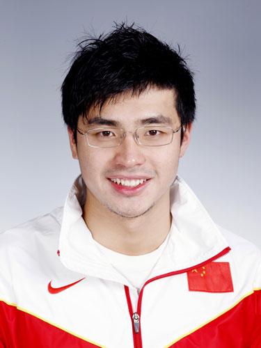 图文-北京奥运会中国代表团成立 游泳队队员吴鹏