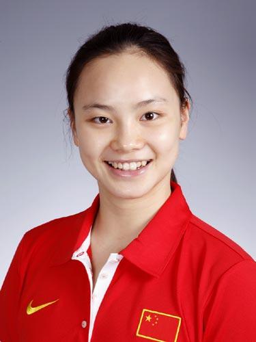 图文-北京奥运会中国代表团成立 花样游泳队员罗茜