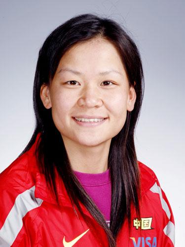 图文-北京奥运会中国代表团成立 赛艇队队员陈海霞