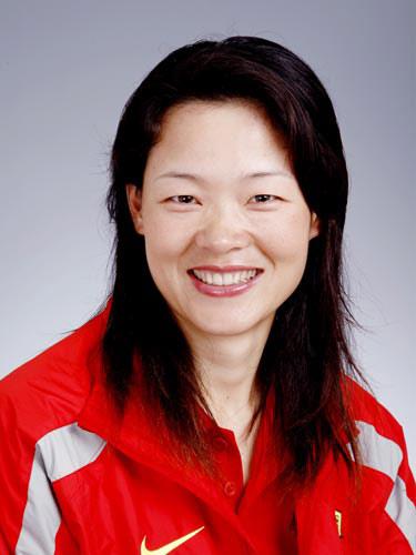图文-北京奥运会中国代表团成立女垒队员黎春霞