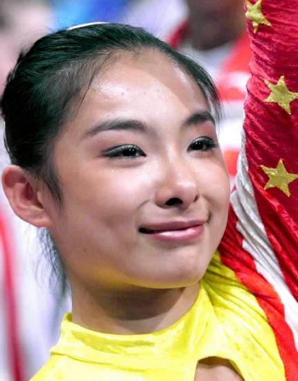 图文-泪洒赛场的奥运冠军 刘璇悉尼奥运会获得冠军