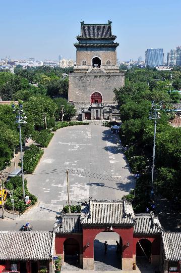 图文-中国古代著名的报时建筑 古老的北京钟楼
