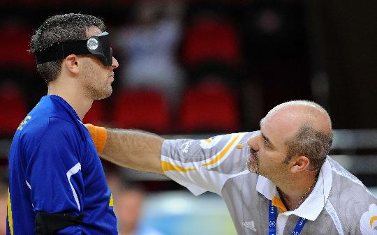 眼罩-北京残奥裁判大乐开赛门球v眼罩图文台球队员汇轮滑盲人怎么样图片