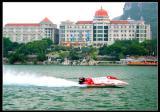 中国天荣F1摩托艇队赛前训练
