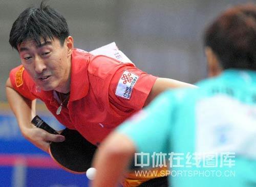图文-乒超第七轮宁波负于八一吴尚垠是老对手了
