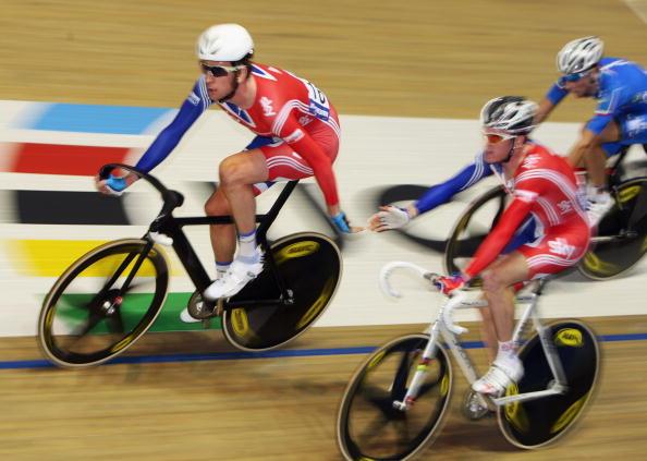 图文-场地自行车世界杯第三日携手同行并肩作战