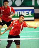 图文-香港羽毛球公开赛第三日赛况钟腾福截击