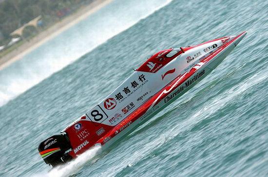 图文-F1摩托艇阿布扎比站排位赛中国队赛手伦迪