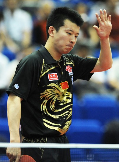 图文-世乒赛男单张超出局虽然落后不输竞争精神