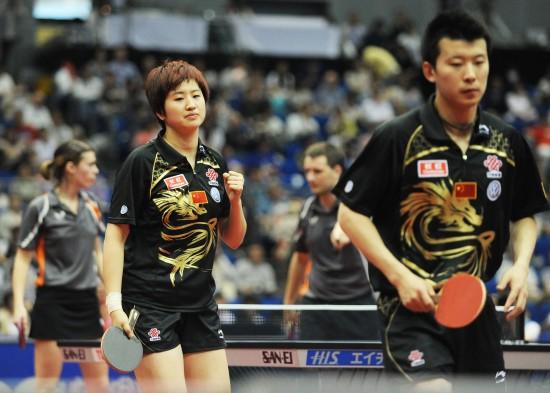 图文-世乒赛混双四分之一决赛 张超/姚彦涉险过关