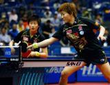 图文-世乒赛女双八强产生北京第一女双上演横扫