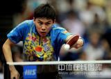 图文-世乒赛男单陈�^4-0水谷隼陈�^场上气势凶猛