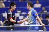 图文-世乒赛男单1/8决赛马琳松平新老一代的握手