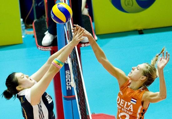 图文-[世界女排大奖赛]中国3-1荷兰王一梅网上火拼