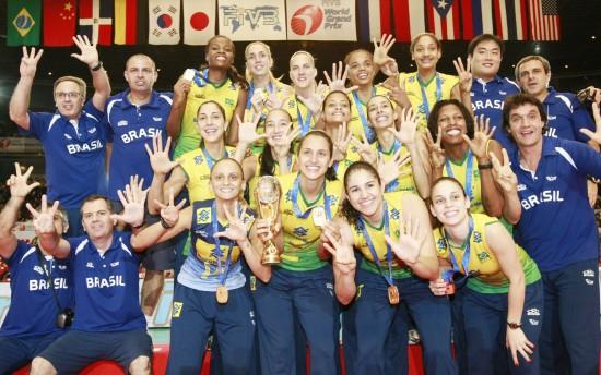 图文-世界女排大奖赛巴西队夺冠奥运后依旧无敌