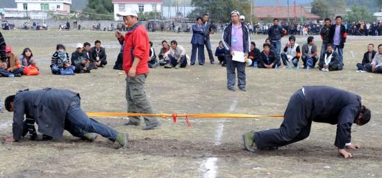 图文-别具特色的西藏乡村体育传统项目大象拔河