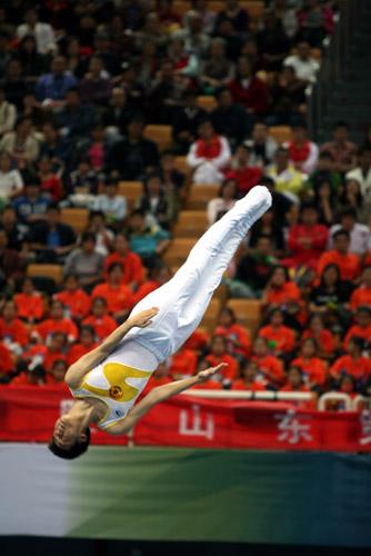 图文-全运会蹦床男子个人赛北京奥运会冠军风采