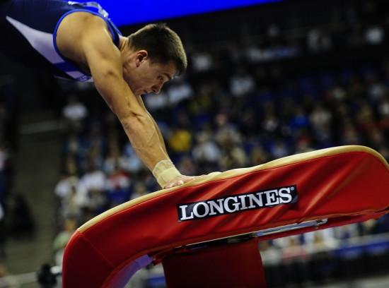 图文-体操世锦赛18日决赛赛况铜牌得主撑手翻越