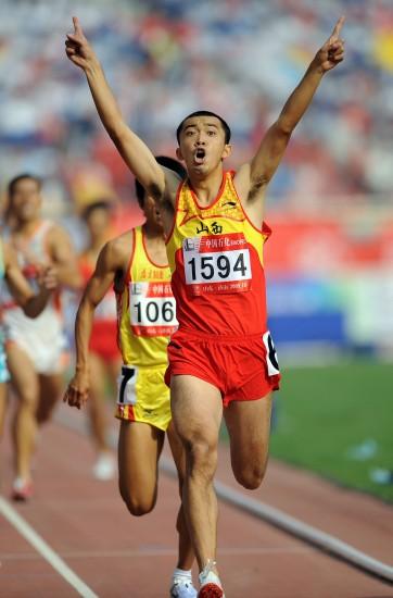 图文-全运男子800米李翔宇夺冠翔式冲击惊艳赛场