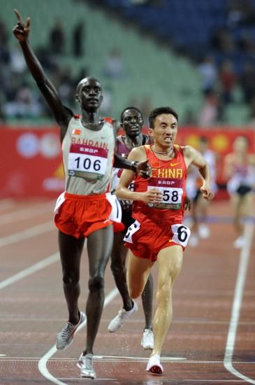 图文-田径亚锦赛第三日精彩赛况林向前获得亚军