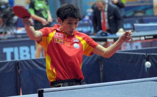 图文-乒联巡回赛科威特站张继科4比1胜马科斯