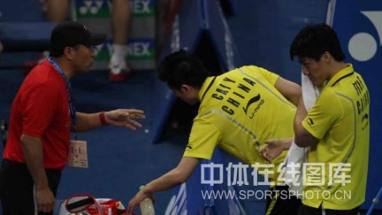 图文-汤姆斯杯1/4决赛中国vs韩国李永波指导风云
