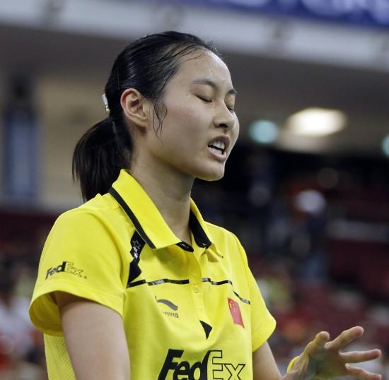 图文-尤伯杯决赛中国VS韩国王仪涵不敌裴升熙丢分