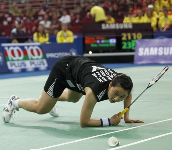 图文-尤杯决赛中国1-3韩国丢冠这个球没出界