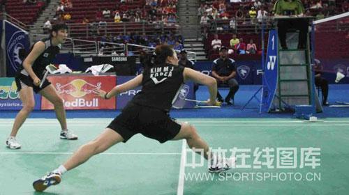 图文-尤杯决赛中国0-2暂落后韩国组合拼命防守
