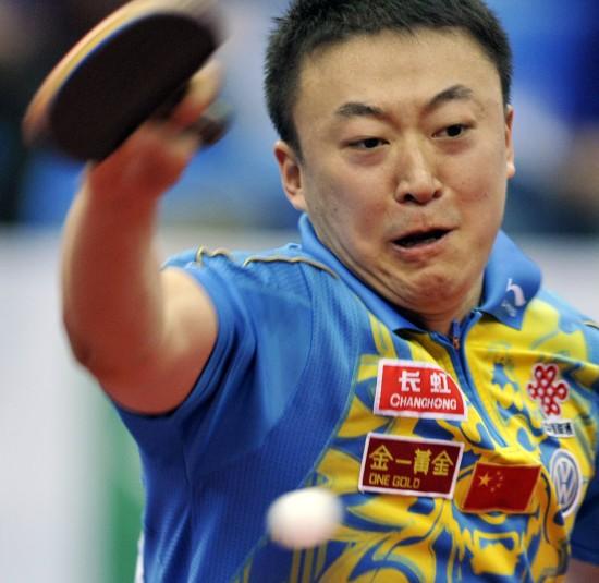 图文-世乒赛男团中国3比0胜俄罗斯马琳侧身攻