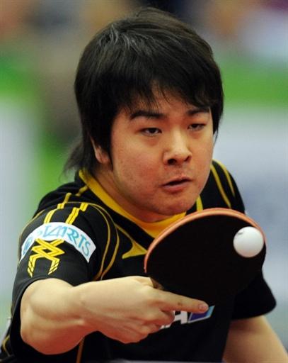 图文-世乒赛男团中国3-0日本岸川圣也兵来将挡