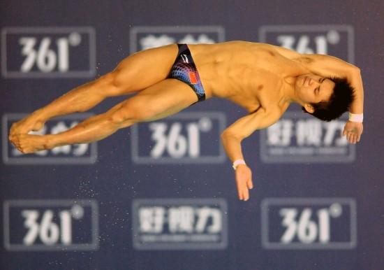 图文-跳水世界杯男子10米跳台赛况邱波还需历练