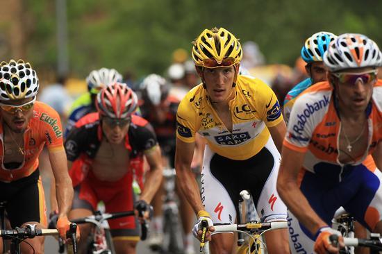 图文-环法第十二赛段精彩瞬间黄衫持有者施莱克