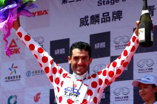 图文-第九届环青海湖自行车赛第三赛段斑点衫