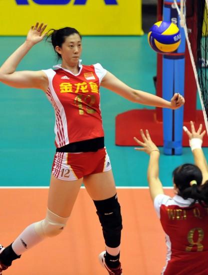 图文-女排大奖赛澳门站中国3-0荷兰薛明短平快
