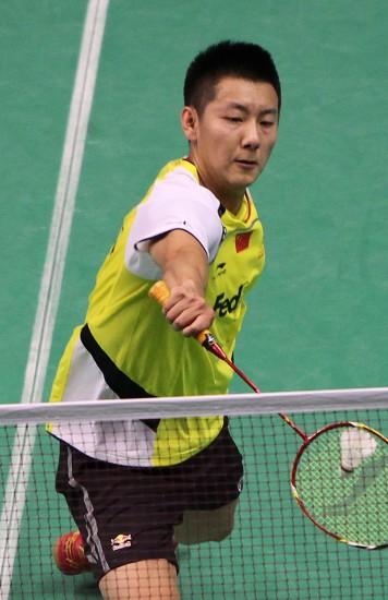 图文-羽毛球世锦赛第2日男单赛况陈金上网救球