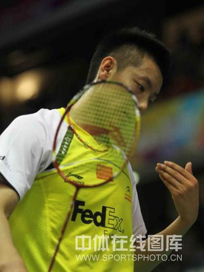 图文-羽毛球世锦赛第2日男单赛况陈金有些心不在焉