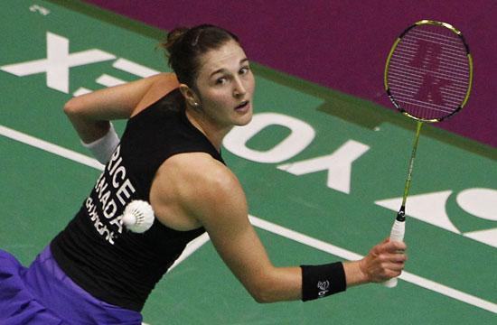 图文-羽毛球世锦赛女单加拿大莱斯无缘16强