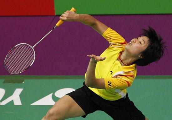 图文-羽毛球世锦赛女单香港叶�逞油�进16强