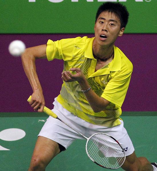 图文-羽毛球世锦赛男单新加坡黑马陈勇肇