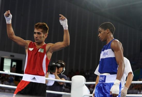 图文-[武搏会]拳击比赛第2日赛况巴基斯坦选手胜出